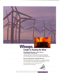 170 tonnes of coking coal for every 70 metre wind tower and turbine