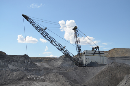 Ursa Major, a Bucyrus Erie 2570WS dragline is the third largest dragline ever built and weighs in at over 6700 tons.