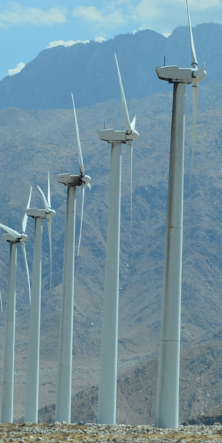 The turbines at San Gorgonio Pass Wind Farm are overflowing with earth-friendly greenergy. Copyright 2012 ~ Photo by Hayes Design