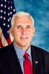"Source: ""Mike Pence, official portrait, 112th Congress"" by United States Congress - http://mikepence.house.gov/images/stories/pence_photo.jpg. Licensed under Public Domain via Wikimedia Commons - https://commons.wikimedia.org/wiki/File:Mike_Pence,_official_portrait,_112th_Congress.jpg#/media/File:Mike_Pence,_official_portrait,_112th_Congress.jpg"